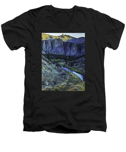 Men's V-Neck T-Shirt featuring the photograph Rock Climbing Mecca by Nancy Marie Ricketts