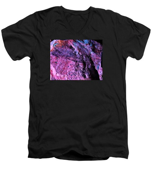 Rock Colors 1 Men's V-Neck T-Shirt by M Diane Bonaparte