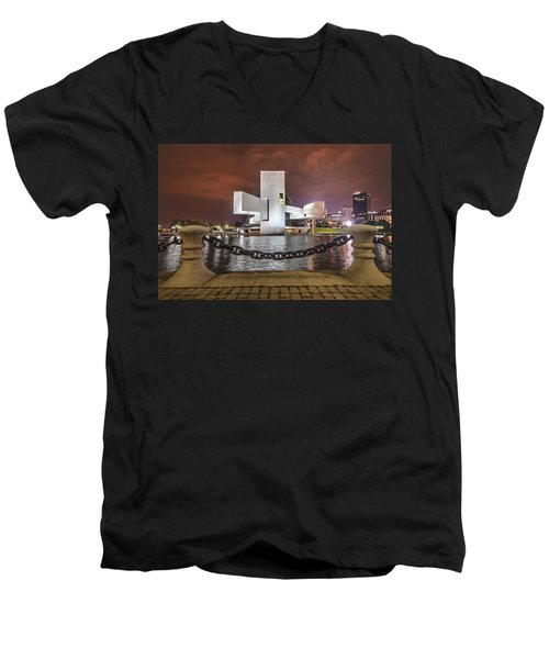 Rock Hall And The North Coast Men's V-Neck T-Shirt by Brent Durken