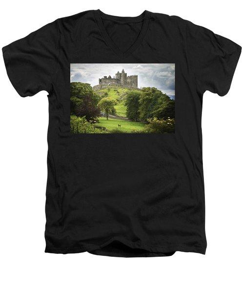 Rock Of Cashel Cashel County Tipperary Men's V-Neck T-Shirt by Patrick Swan