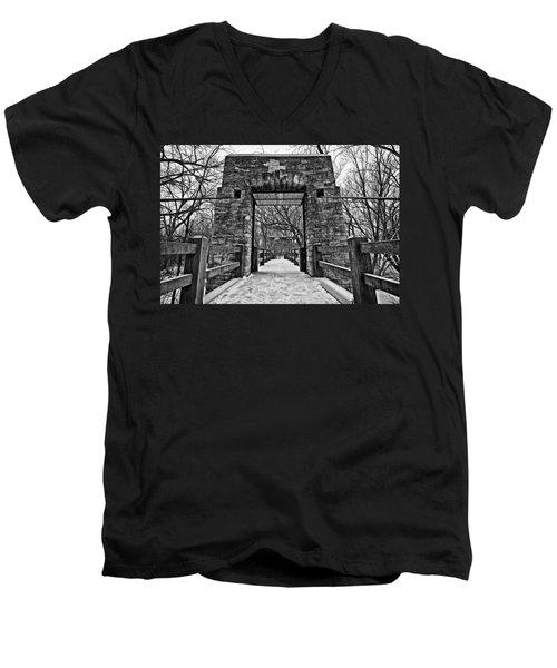 Rock Wood Steel Men's V-Neck T-Shirt