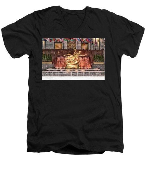 Rockefeller Center Men's V-Neck T-Shirt