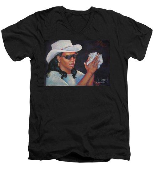 Zydeco Man Men's V-Neck T-Shirt