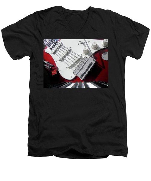 Men's V-Neck T-Shirt featuring the photograph Rock'n Roller Coaster Aerosmith by Juergen Weiss