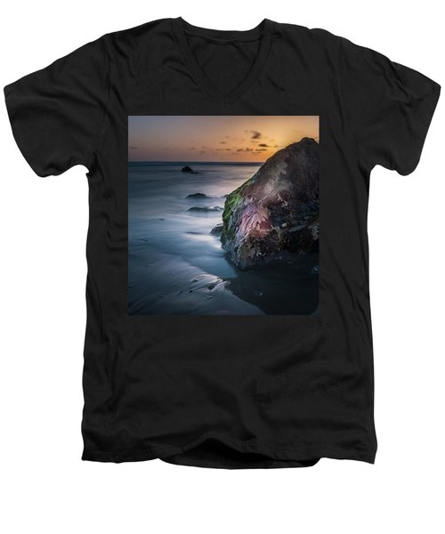 Rocks At Sunset Men's V-Neck T-Shirt