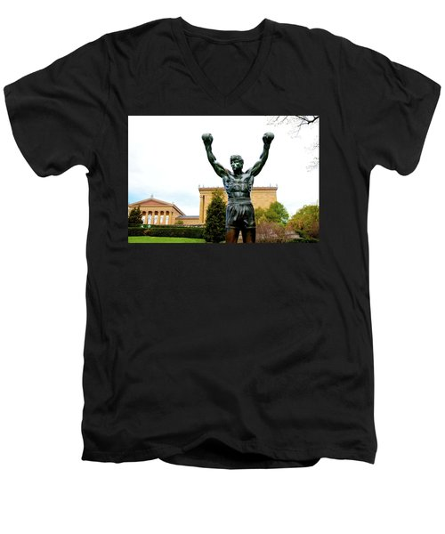 Men's V-Neck T-Shirt featuring the photograph Rocky I by Greg Fortier
