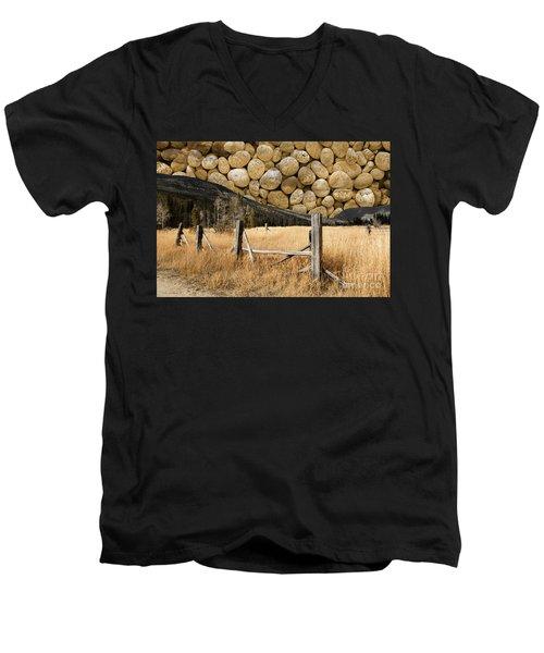 Rocky Mountain Sky Men's V-Neck T-Shirt by John Stephens