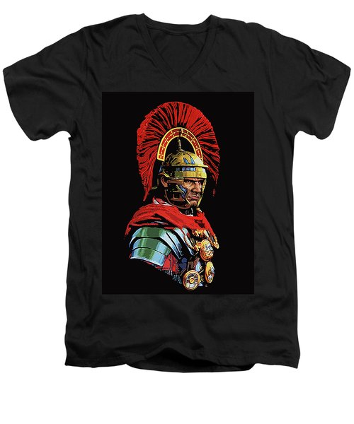 Roman Centurion Portrait Men's V-Neck T-Shirt