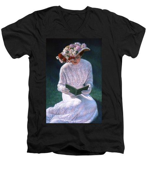 Romantic Novel Men's V-Neck T-Shirt