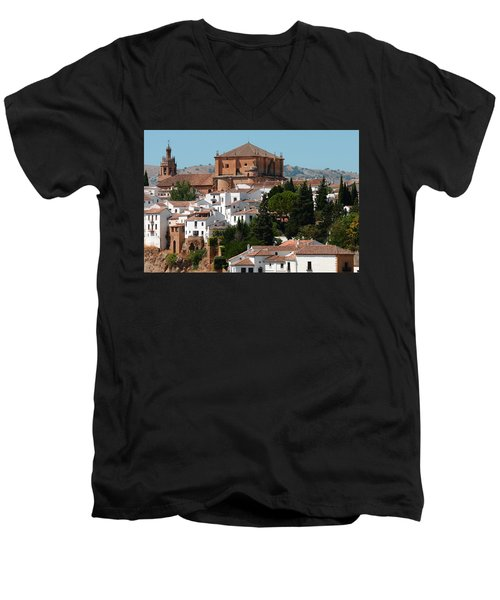 Ronda. Andalusia. Spain Men's V-Neck T-Shirt