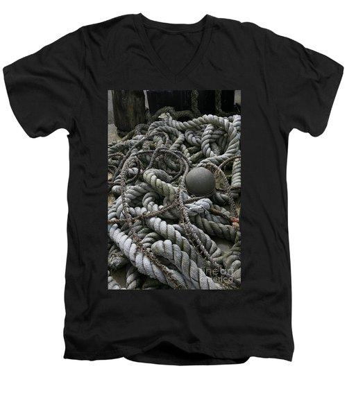 Ropes And Lines Men's V-Neck T-Shirt