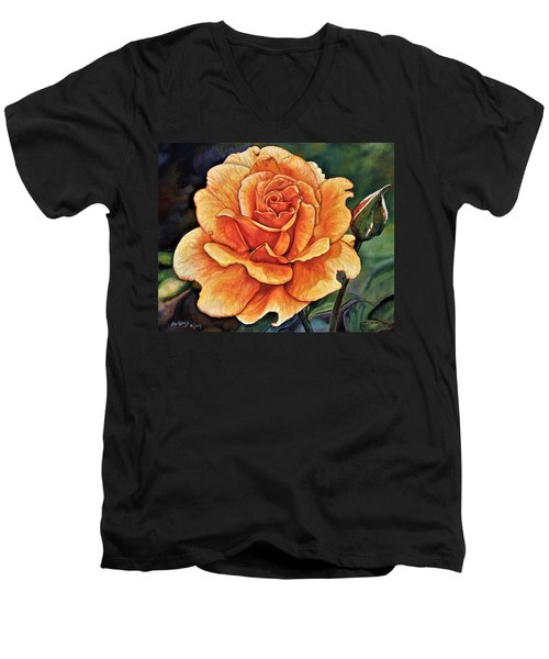 Rose 4_2017 Men's V-Neck T-Shirt