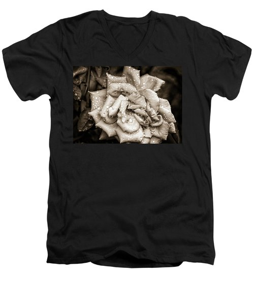 Rose After The Rain Men's V-Neck T-Shirt