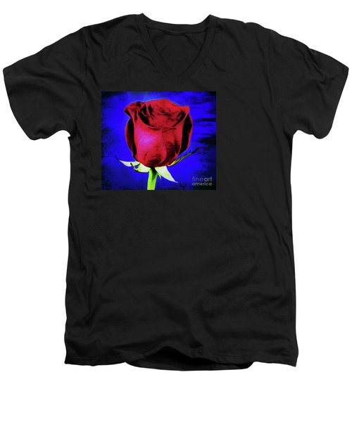 Rose - Beauty And Love  Men's V-Neck T-Shirt by Ray Shrewsberry
