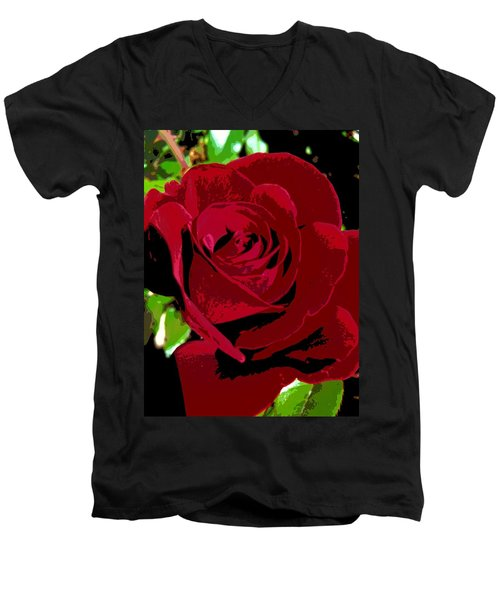 Rose Bloom Men's V-Neck T-Shirt