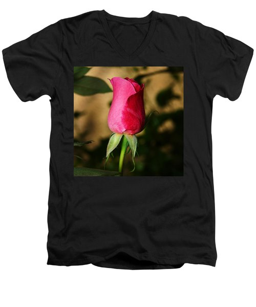 Rose Bud Men's V-Neck T-Shirt by Anthony Jones