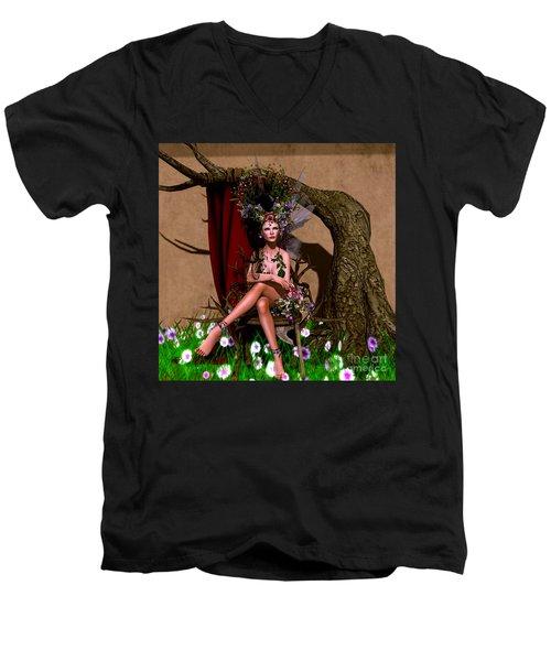Rose Fae Men's V-Neck T-Shirt