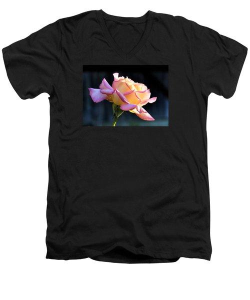 Rose In Sunshine Men's V-Neck T-Shirt