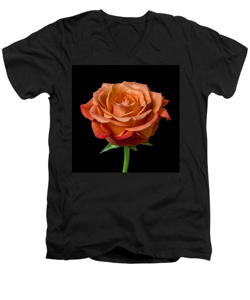 Men's V-Neck T-Shirt featuring the photograph Rose by Jim Hughes
