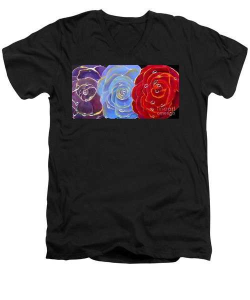 Rose Medley Men's V-Neck T-Shirt