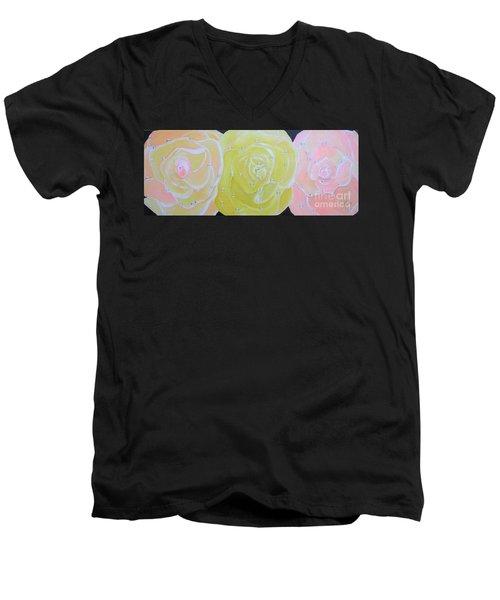 Rose Medley With Dewdrops Men's V-Neck T-Shirt