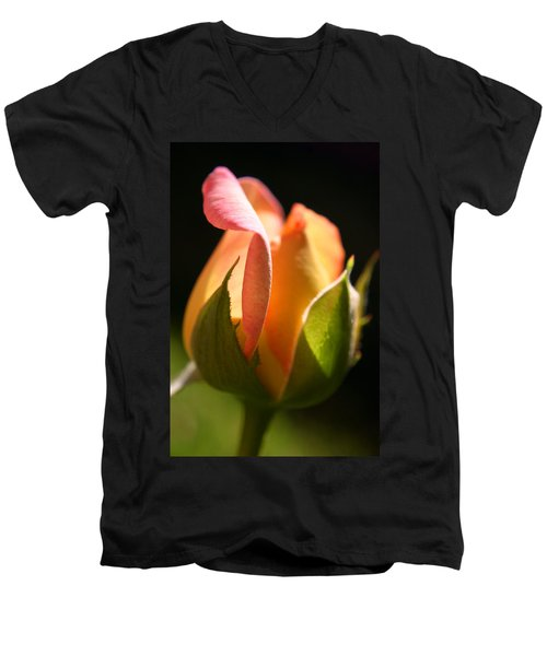 Rosebud Men's V-Neck T-Shirt by Ralph A  Ledergerber-Photography