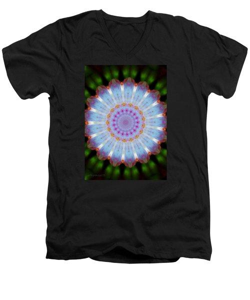 Rosepetals Mandala Men's V-Neck T-Shirt