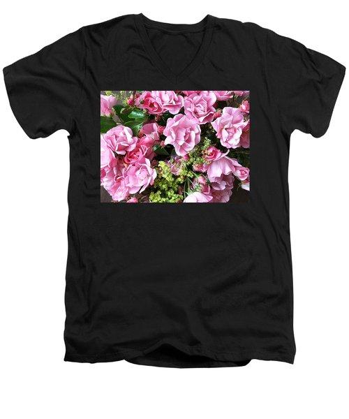 Roses From The Garden Men's V-Neck T-Shirt