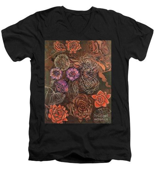 Roses In Time Men's V-Neck T-Shirt