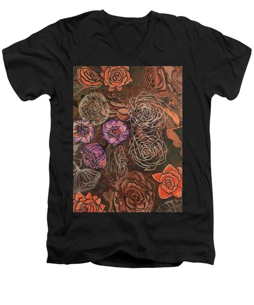 Roses In Time Men's V-Neck T-Shirt