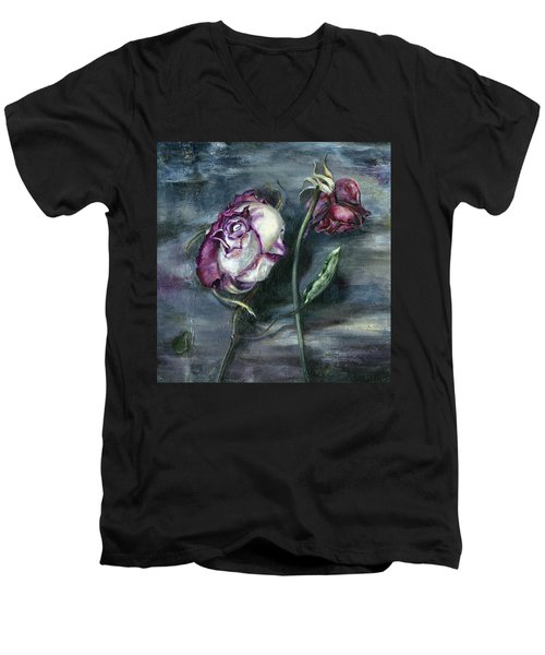 Roses Never Die Men's V-Neck T-Shirt by Nadine Dennis