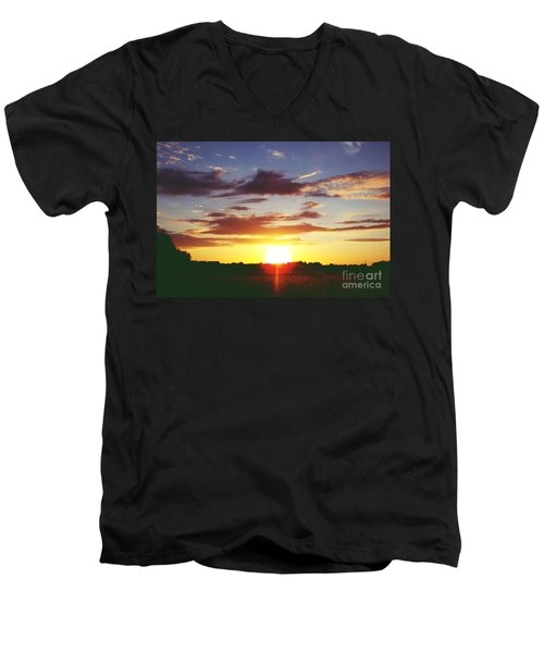 Rossington Sunset 2 Men's V-Neck T-Shirt
