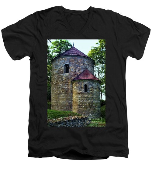 Men's V-Neck T-Shirt featuring the photograph Rotunda  by Mariola Bitner