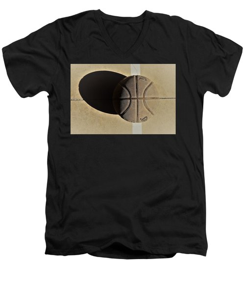 Round Ball And Shadow Men's V-Neck T-Shirt