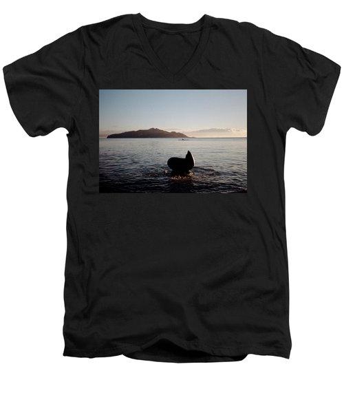 Rowing Off Sausalito, Ca Men's V-Neck T-Shirt