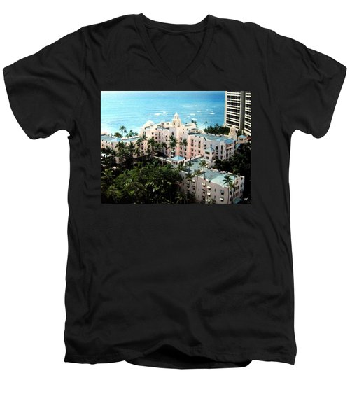 Royal Hawaiian Hotel  Men's V-Neck T-Shirt