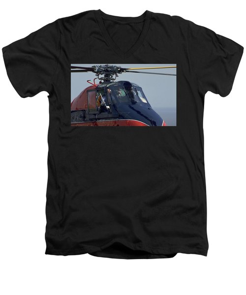 Royal Helicopter Men's V-Neck T-Shirt