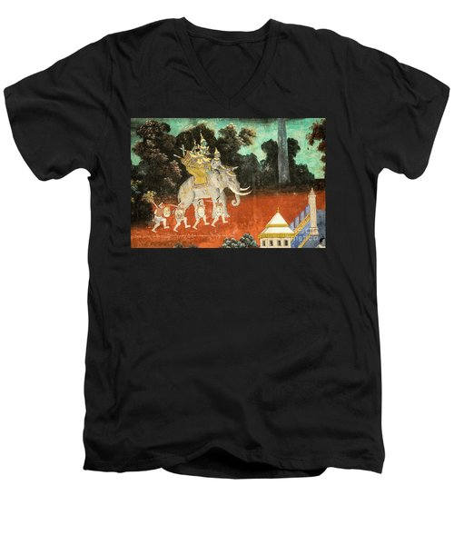 Royal Palace Ramayana 01 Men's V-Neck T-Shirt