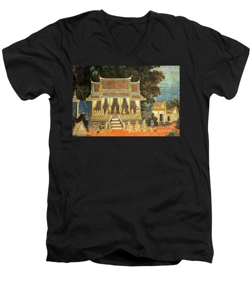 Royal Palace Ramayana 18 Men's V-Neck T-Shirt
