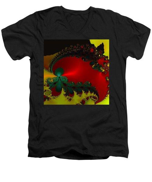 Royal Red Men's V-Neck T-Shirt by Kevin Caudill