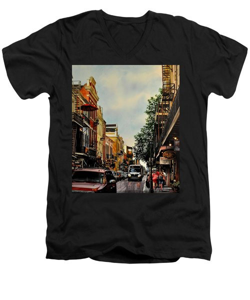 Royal Street Strole Men's V-Neck T-Shirt