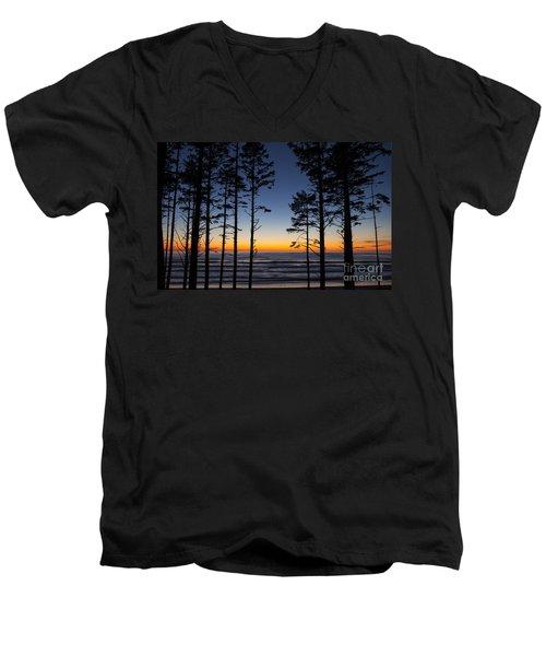 Ruby Beach Trees #4 Men's V-Neck T-Shirt