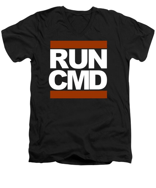 Run Cmd Men's V-Neck T-Shirt