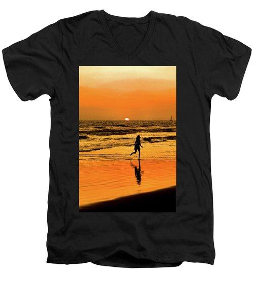 Run To The Sun Men's V-Neck T-Shirt