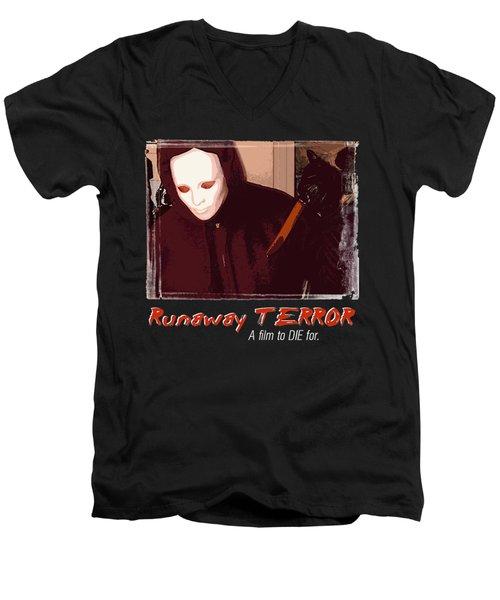 Runaway Terror 4 - Black Men's V-Neck T-Shirt by Mark Baranowski