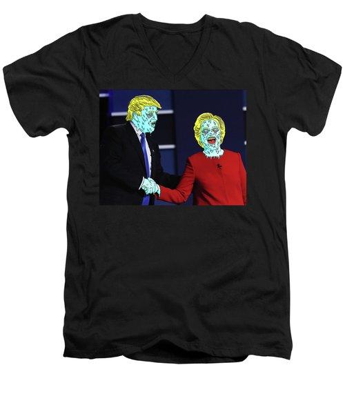 Running Down The Same Cloth. Men's V-Neck T-Shirt by Chief Hachibi