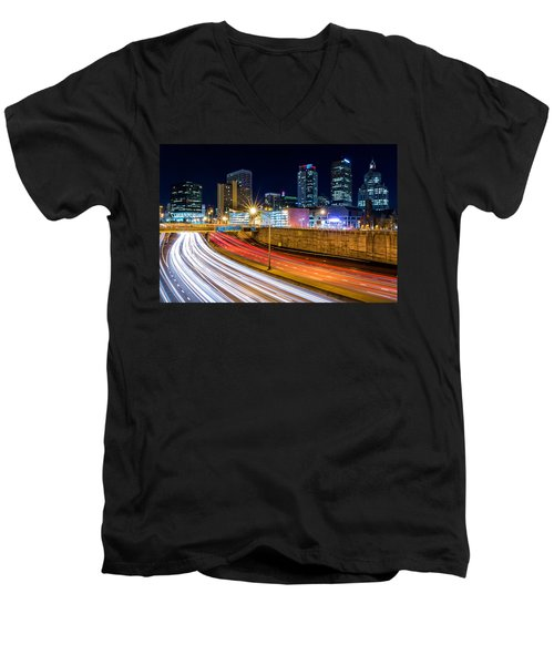 Rush Hour In Hartford, Ct Men's V-Neck T-Shirt