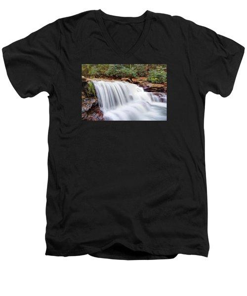 Rushing Waters Of Decker Creek Men's V-Neck T-Shirt by Gene Walls