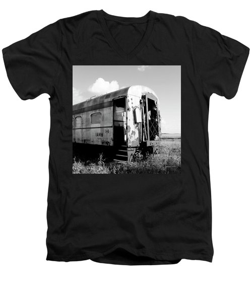 Rusting On The Rails Men's V-Neck T-Shirt