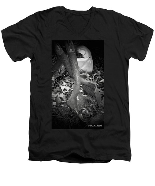 Men's V-Neck T-Shirt featuring the photograph Rusty Embrace by Betty Northcutt